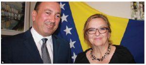 Bosnia and Herzegovina's foreign minister, Igor Crnadak, visited Canada this summer. He's shown with Ambassador Koviljka Spiric.
