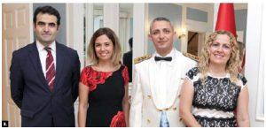 To mark Victory Day, Turkish Ambassador Selçuk Unal and his wife, Lerzan Kayihan Unal, and military attaché Col. Ersin Özkan and his wife, Funda Özkan, hosted a reception at the ambassador's residence. (Photo: Sam Garcia)