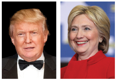Dion said his government will work with whomever American voters elect as president, Hillary Clinton or Donald Trump.  (Photo: Clinton by Gage Skidmore/ Trump by U.S. Marine Corps photo by Sgt. Gabriela Garcia)