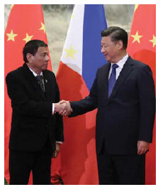 Philippines President Rodrigo Duterte has been cozying up to Chinese President Xi Jinping since the election of Donald Trump. (Photo: King Rodriguez of Philippine Presidential Department)