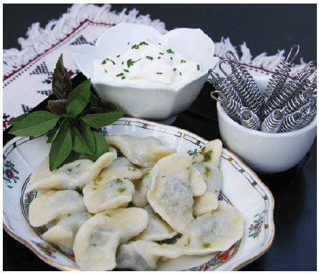 Margaret Dickenson's exotic escargots pierogis offer a twist on a traditional Polish dish. (Photo: larry dickenson)