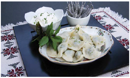 Margaret Dickenson's twist on traditional Polish pierogis, this time with escargots. (Photo: Larry Dickenson)