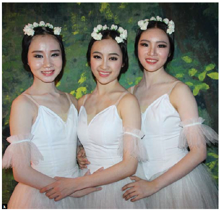 "Ballet dancers from the Shanghai Ballet Bai Dan, Cao Xue and Yan Wentong performed the ballet ""Giselle"" at the National Arts Centre. Prior the performance, China's ministry of culture and Heritage Canada, together with the embassy of China, hosted a reception to mark the conclusion of the ""Canada-China year of people-to-people and cultural exchanges."" (Photo: Ülle Baum)"