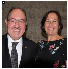 Chilean Ambassador Alejandro Marisio and his wife, Maria Cecilia Beretta. (Photo: Ülle Baum)