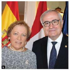 Spanish Ambassador Carlos Gomez-Mugica Sanz and his wife, Maria De La Rica Aranguren, hosted a national day reception at their residence. (Photo by Ülle Baum)