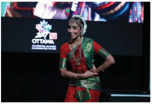 Various embassies and high commissions provided entertainment for the Ottawa Welcomes the World launch at the Aberdeen Pavilion, where many of this year's events will take place. Here, Radha Jetty performs a traditional Indian dance.  (Photo: Ottawa 2017)