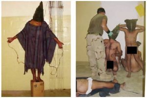 Abu Ghraib was the site of serious breaches by American soldiers during the U.S. occupation of Iraq, as pictured here. Ambassador Kaab wasn't subjected to American torture, but he was jailed and tortured by Saddam's people on three different occasions. (Photo: Obtained by the Associated press / U.S. Military)