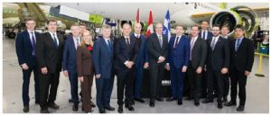 Bombardier, visited here by Latvian delegates, has made a major sale to the Latvian government. (Photo: Compliments of the embassy of Latvia)