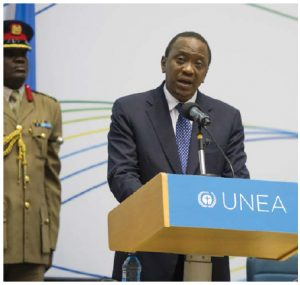 The International Criminal Court attempted unsuccessfully to try Kenyan President Uhuru Kenyatta, shown here in Nairobi, for his alleged fomenting of fatal violence. The indictments were suspended after witnesses were induced to commit perjury.  (Photo: Un photo)