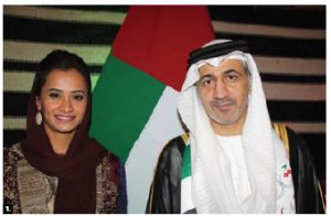 UAE Ambassador Mohammed Saif Helal Alshehhi hosted a national day reception at the Fairmont Château Laurier Hotel. He's shown here with Capt. Aysha Al Hamili, the UAE's permanent representative to the International Civil Aviation Organization. (Photo: Ülle Baum)