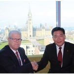 "Borden Ladner Gervais LLP hosted a roundtable discussion with the Embassy of China titled ""The four comprehensives, strategy and China's development."" Guo Yezhou, vice minister of the central committee of the Communist Party of China's international department, is shown with Marc Jolicoeur, left, Ottawa regional managing partner of Borden Ladner Gervais. (Photo: Ülle Baum)"