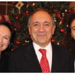 Italian Ambassador Gian Lorenzo Cornado and his wife, Martine, and daughter, Julia, hosted an Italian Christmas dinner buffet at their residence in Aylmer. (Photo: Ülle Baum)