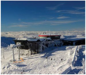 The area of Mount Chopok (2,023 metres) in the Low Tatras is one of the best skiing and winter sports destinations in Slovakia and is gaining recognition all across Europe.  (Photo: Department of Tourism of the Ministry of Transport and Construction of the Slovak Republic)