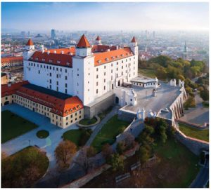 Bratislava Castle, built in the 9th Century, sits above the Danube River and offers magnificent views of Bratislava. Visitors can stroll in the gardens or visit the Slovak National Museum (www.snm.sk). (Photo: Department of Tourism of the Ministry of Transport and Construction of the Slovak Republic)