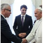 Roy Norton met the Pope when the Trudeaus visitied in late May. (Photo: Jana Chytilova)