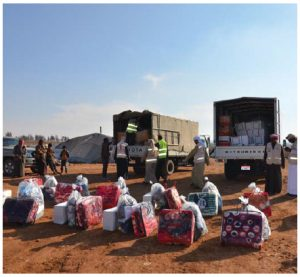 The UAE has helped finance and support the best-managed refugee camps in the world, including this one, the Zaatari Refugee Camp in Jordan. (Photo: Emirates red crescent)
