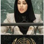 Reem Al Hashimi, UAE minister of state shown here at the UN, announced to the world body that UAE would accept 15,000 Syrian refugees. (Photo: UN Photo)