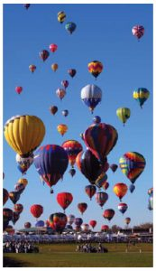 Last year's Albuquerque International Balloon Fiesta attracted more than 600 balloons. His year's festival runs from Oct. 7-15. (Photo: Eric Ward)