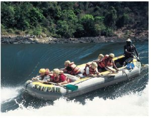 The Washing Machine, Stairway to Heaven and Gnashing Jaws of Death are some of the names of the 25 rapids that line the Zambezi River after it comes down the famed Victoria Falls. (Photo: zambezi safaris)