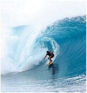 Teahupo'o, Tahiti, is one of the most iconic surfing destinations in the world but it offers waves for amateurs and pros alike. (Photo: Duncan Rawlinson)