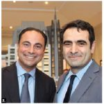 Turkish Ambassador Selcuk Unal, right, attended the grand opening of 1451 Wellington in Ottawa. He's shown with Toronto-based developer Sam Mizrahi. (Photo: Ülle Baum)