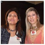 The Arab ambassadors spouses' annual fundraising event took place at the Egyptian ambassador's residence. From left: Hala Elhusseiny Youssef, wife of the ambassador of Egypt, and Chiraz Saidane Essid, president of the Arab Heads of Mission Spouses' Association and wife of the ambassador of Tunisia. (Photo: Ülle Baum)