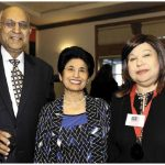 Anand Aggarwal and his wife, Saroj, left, attended a fundraising event in support of the Rockcliffe Park Foundation. Ambassadors and high commissioners, including Malaysian High Commissioner Aminahtun Karim, right, hosted dinners for those who bought tickets. (Photo: Lois Siegel)