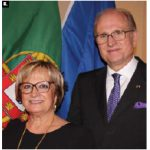 Portuguse Ambassador José Moreira da Cunha, right, and his wife, Maria, hosted national day reception at their residence. (All photos: Ülle Baum)