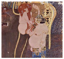 The famous Beethoven Frieze, by Gustav Klimt, is at the Secession building in Vienna. (Photo: media publishing)