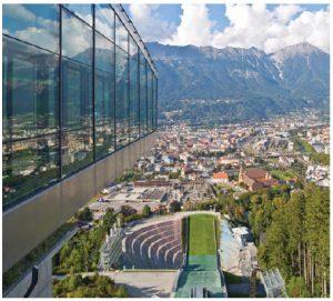 The iconic Bergisel Ski Jump, desgined by architect Zaha Hadid, is located in Innsbruck. (Photo: TVB Innsbruck Christof Lackner)