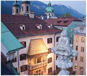 Innsbruck's Golden Roof is adorned with 2,657 fire-gilded copper tiles. (Photo:  TVB Innsbruck)
