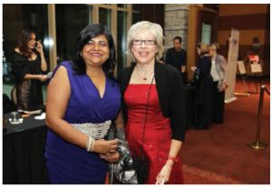 Joanne Silkauskas, executive director of Reach Canada, with Jamaican High Commissioner Janice Miller, at the Ottawa Diplomatic Association's ball last year. (Photo: Sam Garcia)