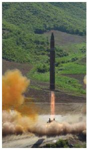 North Korea has been escalating its nuclear tests with 13 ballistic missile launches in 2017.  (Photo: Bemil, Chosun Media)