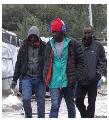 These Sudanese migrants are at the camp in Calais. Our writer suggests an international anti-corruption court would stem migration. (Photo: VOA- Nicolas Pinault)