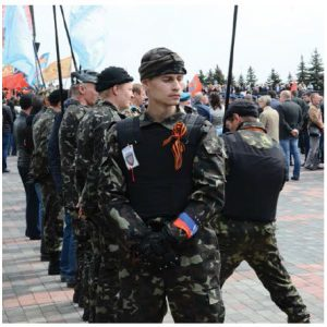 Russian soldiers in Donetsk: The city was one of the centres of the 2014 pro-Russian conflict in Ukraine. (Photo: Andrew Butko)