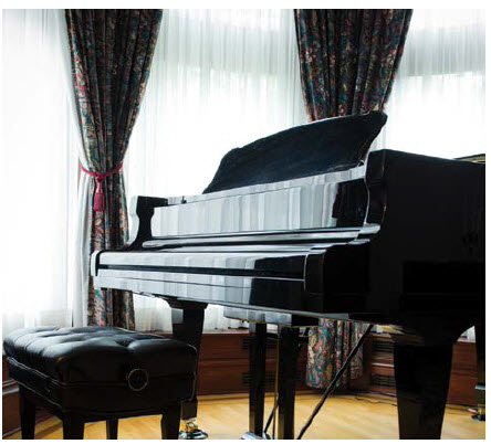 The Royal Conservatory of Toronto donated this grand piano to the embassy, prompting the ambassador to launch a  series of piano concerts at the residence.  (Photo: Ashley Fraser)