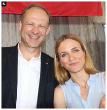 The Czech embassy, along with 18 other embassies, partnered for a day-long cultural event at Lansdowne Park. Czech Ambassador Pavel Hrncir served Czech beer with the help of his assistant, Tereza Horankova, right. (Photo: Ülle Baum)