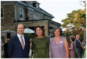 The Ottawa Symphony Orchestra's Fête Champêtre took place at the residence of Italian Ambassador Claudio Taffuri. From left, Fabrizio Nava, minister-counsellor at the embassy of Italy, Maria Enrica Francesca Stajano and Kate Holmes, general manager of the symphony. (Photo: Ülle baum)