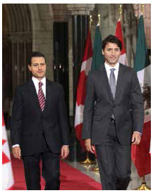 Canadian Prime Minister Justin Trudeau, right, and Mexican President Enrique Peña Nieto have been particularly strong allies since NAFTA renegotiations began. (Photo: Sam Garcia)