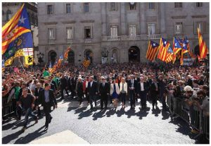 The trend towards separatism in Europe will continue, but only Catalonia, whose supporters are shown above, represents a real risk. (Photo: Generalitat de Catalunya)
