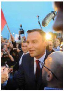 Our writer predicts Polish President Andrzej Duda, shown here, will succeed in altering Jaroslaw Kaczynski's Law and Justice Party's illiberalist agenda. (Photo: Debata prezydencka)