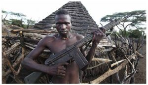 Civil war will continue to rage in South Sudan, from which this warrior hails, as well as the Central African Republic, Democratic Republic of Congo and Libya. South Sudan is only a seven-year-old republic and has been consumed by conflict between its politicians about oil revenues. (Photo: Steve Evans)