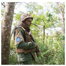 This UN peacekeeper serves in the Central African Republic where efforts to quell civil war continue in vain. (Photo: UN photo)
