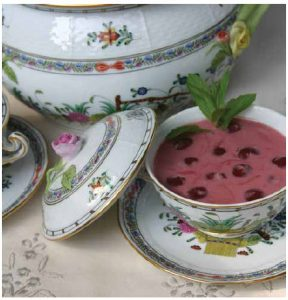 Margaret Dickenson's Sour Cherry Chilled Soup (Meggyleves) (Photo: larry dickenson)