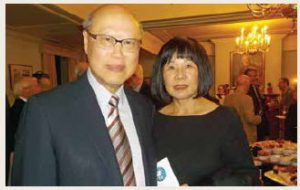 Representative of the Republic of China (Taiwan) Chung-chen Kung and his wife, Triffie, will be joined by winning bidders for a golf game and dinner at The Royal Ottawa Golf Club. (Photo: Martin Silverstone/Atlantic Salmon Federation)