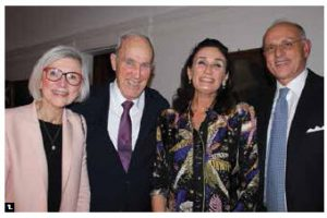 Italian Ambassador Claudio Taffuri hosted a dinner at his home to celebrate the International Week of Italian Cuisine. From left: Beverley McLachlin, her husband, Frank McArdle, Maria Enrica Francesca Stajano and Taffuri.  (Photo: Ülle Baum)