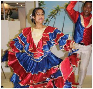 Punta Cana and San Miguel de Allende, a colonial-area city in Mexico's central highlands, were both promoted at Montreal's international tourism and travel show. These dancers from the Ballet Folklorico Xcaret performed. (Photo: Ülle Baum)