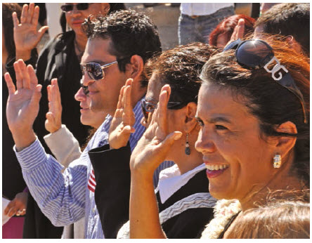 At this naturalization ceremony in the Grand Canyon, 23 people from 12 different countries, including Colombia, Dominican Republic, Guatemala, Japan, Mexico, Morocco, Australia, Trinidad and Tobago, Uruguay, Venezuela, Vietnam and Zambia, became U.S. citizens. (Photo: Grand Canyon National Park)