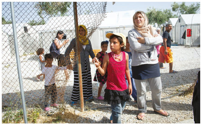 The influx of refugees and migrants into Europe from beyond its borders has encouraged Brexit, strained the resources of receiving societies, such as Greece, shown here, and fundamentally realigned European politics. (Photo: UNPHOTO)