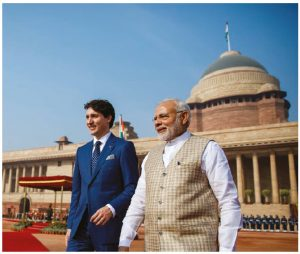 Prime Minister Justin Trudeau and Indian Prime Minister Narendra Modi did strike some memorandums of understanding, but on the whole, Trudeau's trip was gaffe-laden and not seen to have been productive for Canada-India relations. (Photo: prime minister's office)